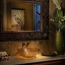 Tropical Bathroom by ViscontiDesignGroup
