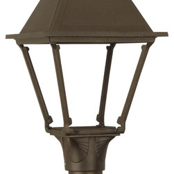 American Gas Lamp Works - The Westmoreland Outdoor Lighting Noble Bronze Post - The American Gas Lamp Works Westmoreland Lamp is our most versatile gas/electric lamp, offering the heightened visibility of four-sided design and simple, solid construction. The Westmoreland can be customized to virtually any taste through our wide selection of finishes and finials and is often employed as a complement to our Coachman and Old Allegheny estate lamps in architectural designs. Available for use with gas or electric.