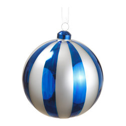 Silk Plants Direct - Silk Plants Direct Glass Ball Ornaments, Set of 6, Blue & White - Pack of 6. Silk Plants Direct specializes in manufacturing, design and supply of the most life-like, premium quality artificial plants, trees, flowers, arrangements, topiaries and containers for home, office and commercial use. Our Glass Ball Ornament includes the following: