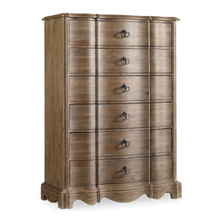 Hooker Furniture - Hooker Furniture Corsica Six-Drawer Chest 5180-90010 - Like the Mediterranean island for which its named, Corsica is a melting pot of timeless design influences with a sun washed ambience and a casual attitude.