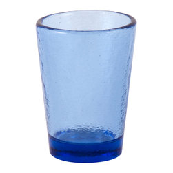 Fire & Light - Recycled Glass Tumbler, Cobalt Blue - Beautiful, iridescent barware made from recycled glass and ready to be reused time and again with your favorite guests. The unique play of light that filters through the color of these wonderful glasses will enchant you. Made with over 91% recycled glass.