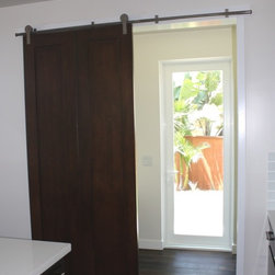 Barn Door To Butler's Pantry - Barn Door To Butler's Pantry Provides Option To Close Off Opening