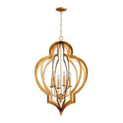 Cyan Design - Cyan Design Vertigo Gold Leaf Chandelier - Cyan Design 05974 - Vertigo Gold Leaf Chandelier
