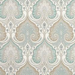 Latika Fabric, Seafoam - 100% Linen
