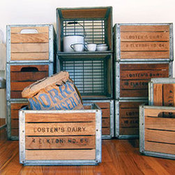 Dairy Crates - These vintage wood crates would look great holding sodas or just displayed as decor.