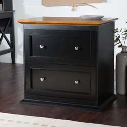 Belham Living Hampton Two Drawer Lateral Filing Cabinet - Black/Oak - Spacious smooth and beautifully designed the Hampton Two Drawer Lateral Filing Cabinet - Black/Oak is made of a solid wood frame and oak veneers that present a contrasting black and oak finish. The wide lateral style storage features two drawers that can hold letter- and legal-sized files. Meanwhile the metal drawer glides ensure smooth consistent operation. About Belham Living Belham Living builds catalog-quality furniture in traditional styles at a price that actually makes sense. By listening to our customers and working closely with great manufacturers we build beautiful pieces worthy of your home. Rich wood finishes attention to detail and stylish lines that tie everything together are some of the hallmarks of a Belham Living piece. From the living room or bedroom through the kitchen and out onto the deck there's something from an incredible Belham collection perfect for your style.
