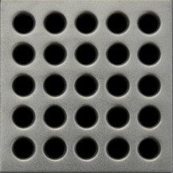 Square Shower Drain Grates Antique Pewter PVD, Satin Nickel - Ebbe Square Shower Drain - Satin Nickel