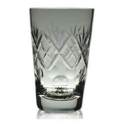 Lavish Shoestring - Consigned 2 Whisky Tumbler Cut Glasses, Vintage English - This is a vintage one-of-a-kind item.