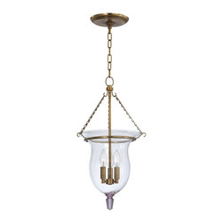 Hudson Valley - 841-AGB Ulster Foyer Lantern, Aged Brass, Clear Mouth Blown Glass - Transitional Foyer Lantern in Aged Brass with Clear Mouth Blown glass from the Ulster Collection by Hudson Valley.
