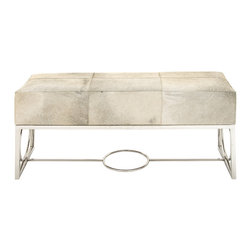 Wonderful Stainless Steel Leather Bench - Description: