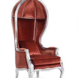Fabrizia Velvet Porter Canopy Chair -