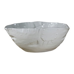Montes Doggett - Handmade Oversize Bowl - Fill this bowl with your favorite fruits. It's deep enough to handle the season's bounty and would look beautiful sitting in the center of your table. You could use for any side dish too, or simply leave empty and let the unique, textural exterior do the talking.