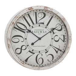 Antique themed and Classy Wood Wall Clock - Description: