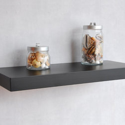 """Chicago Floating Wall Shelf-36inch - This Chicago floating wall shelf is 2"""" think and 10"""" deep. It is also called hidden bracket shelf or Bracketless wall shelf. There are many finishes available such as white, black, espresso, walnut, maple, beech and silver."""
