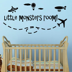 ColorfulHall Co., LTD - Wall Stickers Little Monsters Room - Wall Stickers Little Monsters Room