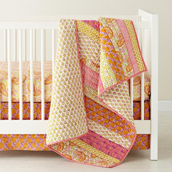 Handpicked Patchwork Crib Bedding - Bright, bold patterns will help to stimulate a child's mind.