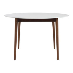 Euro style euro style manon round dining table 90195wht for Only dining table online
