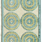 "Rugs America - Contemporary Salerno Hallway Runner 2'3""x7'10"" Runner Beads Aqua Area Rug - The Salerno area rug Collection offers an affordable assortment of Contemporary stylings. Salerno features a blend of natural Beads Teal color. Machine Made of Power Loomed 1 000 000 points the Salerno Collection is an intriguing compliment to any decor."