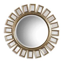 Uttermost - Uttermost 14076 B Cyrus Round Silver Mirror - Uttermost 14076 B Cyrus Round Silver Mirror
