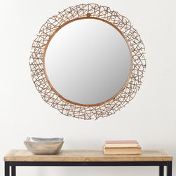 Safavieh - Safavieh Handmade Arts and Crafts Fragile Twigs Wall Mirror - This unique handcrafted wall mirror can be added to any room that needs a touch of whimsy. The twig-like design that surrounds the mirror is handcrafted and authentic. It is made of durable copper to give a wood-like and fragile look.