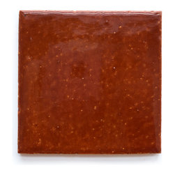 1047 Roasted Pepper (Crackle and Glossy Finish) - Handmade Ceramic Tile - Handmade Ceramic Tile