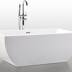 Helixbath velia freestanding acrylic bathtub 67 white w for Soaker tub definition