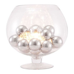 Zuomod - Terran Table Lamp - The elegance of chrome orbs enhances the look of this unique table lamp.