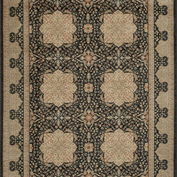 """Momeni Rug - Momeni Rug Encore 7'10"""" x 11'2"""" EC-12 Black ENCOREC-12BLK7AB2 - The Encore Collections tells monochromatic color stories with old world designs. Exquisite design clarity and gorgeous warm colors in these rugs bring sophistication and elegance to the new traditionalist home. Refined and classic, the Encore Collection enhances any room."""