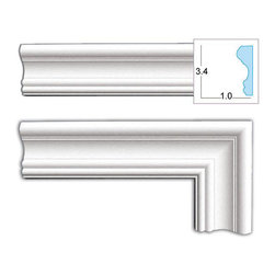 None - Decorative 3.4-inch Door Casing - Update the look of any door in your home with this decorative door casing. This wooden trim can easily be installed and comes in an already primed white,so you can paint it however you like to match your decor. Its lightweight and semi-flexible.
