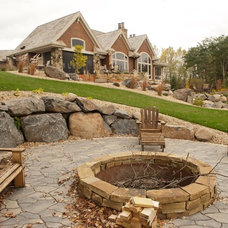 Rustic Firepits by McCullough Design Services, LLC.