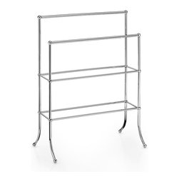 WS Bath Collections - Venessia Towel Stand - Venessia by WS Bath Collections Towel Stand in Polished Chrome, Solid Brass Base, Made in Italy