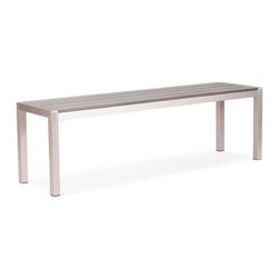 Zuo Modern - Zuo Metropolitan Bench Brushed Aluminum - Metropolitan Bench in Brushed Aluminum by Zuo Modern Sturdy is the Metropolitan Bench's middle name! Made from tough aluminum and a sturdy teak top, this table will out last the rest. Bench (1)