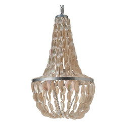 Kouboo - Manor Chandelier in Abalone Seashell, White - Holy mother of pearl, this brings iridescence to a whole new level! The lustrous abalone shell will bring the warmth of the beach to your home in this wondrous chandelier. Let the natural shimmer and shine light up any room with intoxicating beauty.