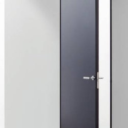 Super Door by Lualdi Porte - This sleek modern door is available in a range of contemporary finishes. It's rounded vertical edges give it an unexpected architectural detail.