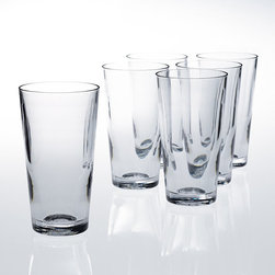 Frontgate - Set of Six 16 oz. Beer Glasses - Each piece offers insulation benefits similar to double-walled tumblers, keeping beverages cold or hot longer while reducing sweating. Safe for residential and commercial dishwashers. Available in sets of six. Allows you to entertain indoors or out without worrying about broken glasses. FDA- and NSF-approved. With World's End Unbreakable Pubware, you can enjoy the look, weight and feel of glass without worrying about breakage. This ultra-durable, BPA-free drinkware mimics the qualities of real glass. Dishwasher safe; won't cloud, crack or discolor even after hundreds of washings.  .  .  .  .  . Made in the USA.