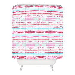 DENY Designs - Hadley Hutton Floral Tribe Collection 6 Shower Curtain - Who says bathrooms can't be fun? To get the most bang for your buck, start with an artistic, inventive shower curtain. We've got endless options that will really make your bathroom pop. Heck, your guests may start spending a little extra time in there because of it!
