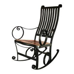 Groovystuff - Groovystuff Ironhorse Rocking Chair in Honey - Features: