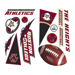 York Wallcoverings - NCAA Boston College Eagles 27pc Wall Accent Stickers Set - Features: