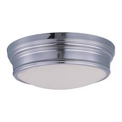 Maxim Lighting - Maxim Lighting 22371SWPN Fairmont 3-Light Flush Mount - Maxim Lighting 22371SWPN Fairmont 3-Light Flush Mount