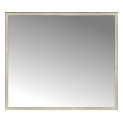 """Posters 2 Prints, LLC - 67"""" x 58"""" Libretto Antique Silver Custom Framed Mirror - 67"""" x 58"""" Custom Framed Mirror made by Posters 2 Prints. Standard glass with unrivaled selection of crafted mirror frames.  Protected with category II safety backing to keep glass fragments together should the mirror be accidentally broken.  Safe arrival guaranteed.  Made in the United States of America"""