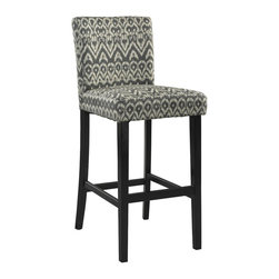 Linon - Bar Stool, Driftwood - Dimensions: 23 x 17.7 x 43.3 inches