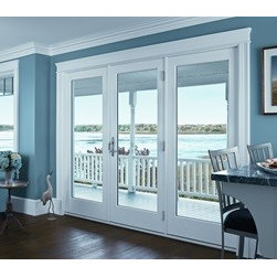 Hinged French Doors - A space-saving door with a fabulous view!