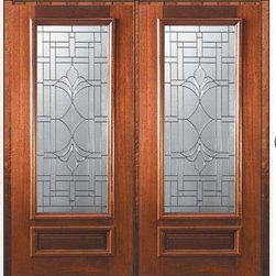 """Prehung Double Door 80 Wood Mahogany Marsala 1 Panel 3/4 Lite Glass - SKU#P14572-G-DP34M2BrandGlassCraftDoor TypeExteriorManufacturer Collection3/4 Lite Entry DoorsDoor ModelMarsalaDoor MaterialWoodWoodgrainMahoganyVeneerPrice4255Door Size Options  +$percent  +$percentCore TypeDoor StyleDoor Lite Style3/4 LiteDoor Panel Style1 PanelHome Style MatchingDoor ConstructionPortobelloPrehanging OptionsPrehungPrehung ConfigurationDouble DoorDoor Thickness (Inches)1.75Glass Thickness (Inches)Glass TypeTriple GlazedGlass CamingOil Rubbed Bronze , Satin NickelGlass FeaturesTempered , BeveledGlass StyleGlass TextureGlass ObscurityDoor FeaturesDoor ApprovalsWind-load Rated , FSC , TCEQ , AMD , NFRC-IG , IRC , NFRC-Safety GlassDoor FinishesDoor AccessoriesWeight (lbs)603Crating Size25"""" (w)x 108"""" (l)x 52"""" (h)Lead TimeSlab Doors: 7 Business DaysPrehung:14 Business DaysPrefinished, PreHung:21 Business DaysWarrantyOne (1) year limited warranty for all unfinished wood doorsOne (1) year limited warranty for all factory?finished wood doors"""