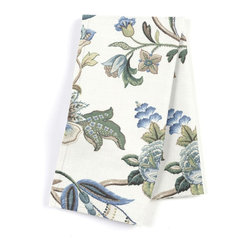 Blue Jacobean Floral Custom Napkin Set - Our Custom Napkins are sure to round out the perfect table setting'whether you're looking to liven up the kitchen or wow your next dinner party. We love it in this sophisticated jacobean floral in bright classic shades of blue. perfect for the new traditionalist.