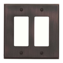 Atlas Homewares - Atlas Sutton Place Double Rocker Switch Place Venetian Bronze - Atlas Sutton Place Double Rocker Switch Place Venetian Bronze