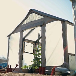Barebones The Terra Greenhouse - Cold Greenhouse - Enjoy your favorite produce all year long with the Barebones The Terra Greenhouse - Cold Greenhouse. Made from UV- and weather-resistant Cordura shell with a lightweight aluminum frame, this greenhouse is made to insulate your plants in any weather conditions. Able to anchor to almost any surface, including concrete, wood, and dirt, you can make this greenhouse a temporary or permanent growing space. Tall enough to walk upright, this beautiful greenhouse will be a welcome respite during the cold winter months. Additional Features Adjustable nylon joints allows additional walls Additional greenhouse walls sold separately Can anchor to concrete, wood, dirt, and more Provides a permanent or temporary growing place Limited lifetime warranty includedAbout BarebonesBarebones is committed to principles that guide everything from their product development to business decisions. Pure and artful design, passion, empowering individuals, hard work and innovation, and profitability are at the core of Barebones and the decisions they make. Believing that less is more, Barebones works to create items that are rooted in natural beauty and bring people together, and they rely on the passion of their workers to create products that not only inspire but also excel. Encouraging their team members to reinvent, reconnect, rediscover, and rethink, Barebones strives to reintroduce their customers to the endless possibilities and prosperities of life.