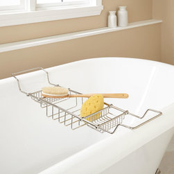 Gerard Brass Tub Caddy - The Gerard Brass Tub Caddy is a useful accessory for your freestanding bath.