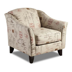 Chelsea Home Furniture - Chelsea Home Gloucester Accent Chair Upholstered in Postale Ruby - Gloucester Accent Chair Upholstered in Postale Ruby belongs to Verona VI collection by Chelsea Home Furniture.