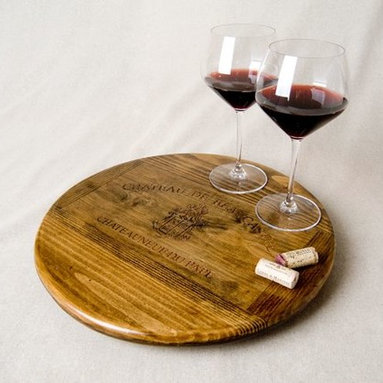 Wine Crate Lazy Susan- Chateau de Beaucastel - Ignite Images