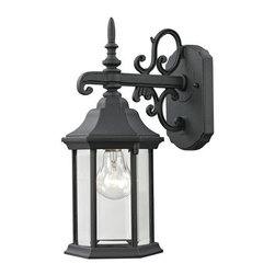 Cornerstone Lighting - Cornerstone Lighting 8611EW Spring Lake 1 Light Outdoor Wall Sconce with Clear G - Features: